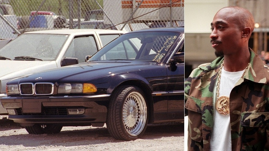 The BMW in the Las Vegas Police impound lot and Tupac Shakur in 1996