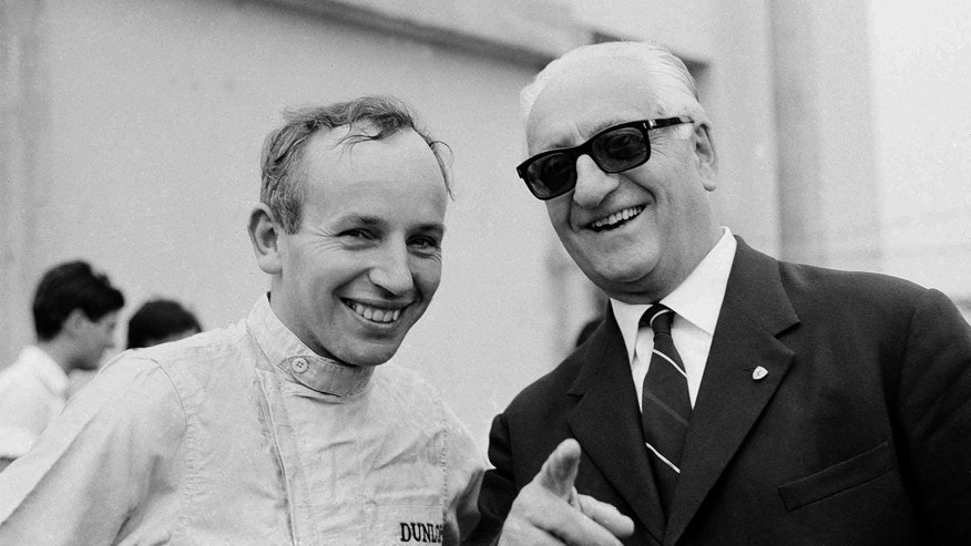 Surtees with Enzo Ferarri in 1964