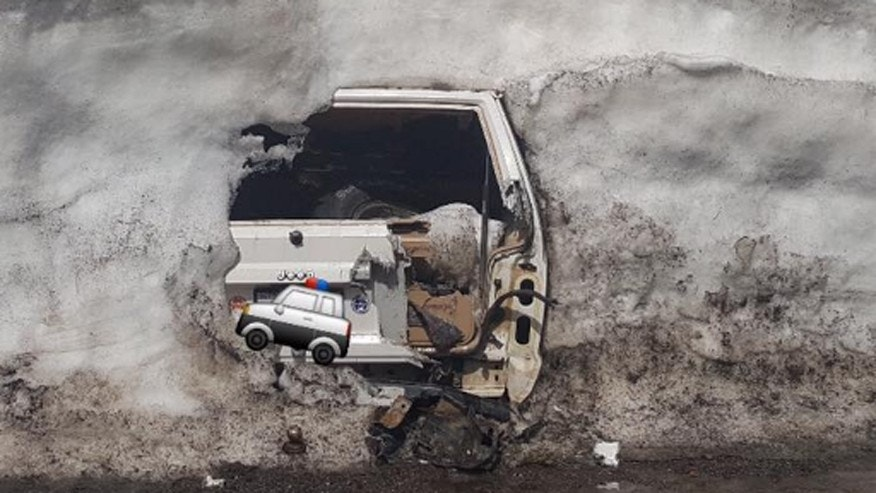 Police find Jeep buried under 20 feet of snow in the Donner Pass