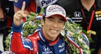 Takuma Sato, center, of Japan, celebrates after winning the Indianapolis 500 auto race at Indianapolis Motor Speedway, Sunday, May 28, 2017, in Indianapolis. (AP Photo/Darron Cummings)