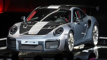 A 2018 Porsche 911 GT2 RS is introduced during the Xbox E3 2017 media briefing in Los Angeles, California, U.S., June 11, 2017. REUTERS/Kevork Djansezian - RTS16MHI