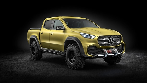 Mercedes-Benz Concept X-CLASS powerful adventurer – Exterieur, Lemonaxmetallic 