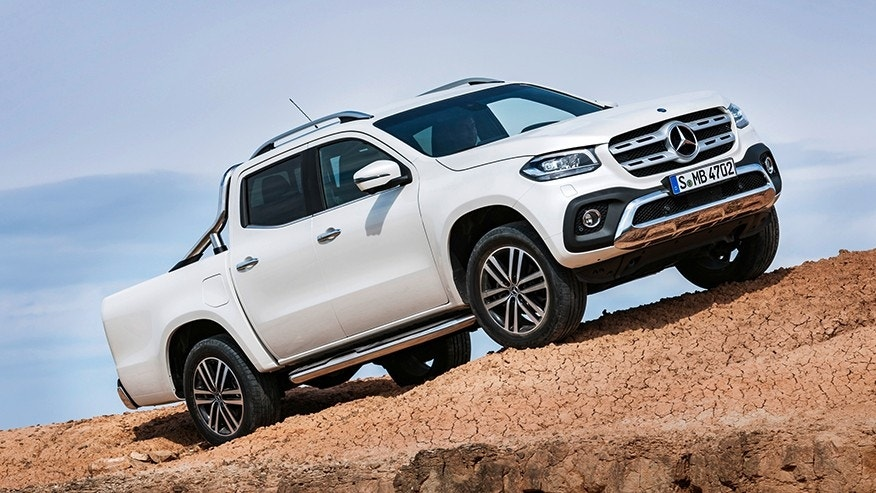 forbidden fruit the mercedes benz x class pickup is ready to haul in style fox news. Black Bedroom Furniture Sets. Home Design Ideas