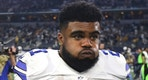 FILE - In this Jan. 15, 2017, file photo, Dallas Cowboys' Ezekiel Elliott (21) walks off the field after  a 34-31 loss to the Green Bay Packers in an NFL divisional playoff football game, in Arlington, Texas. Cowboys owner Jerry Jones says the club is still gathering details over Elliott's involvement in an altercation at a Dallas bar, the latest off-field incident for the star running back.  (AP Photo/Michael Ainsworth, File)