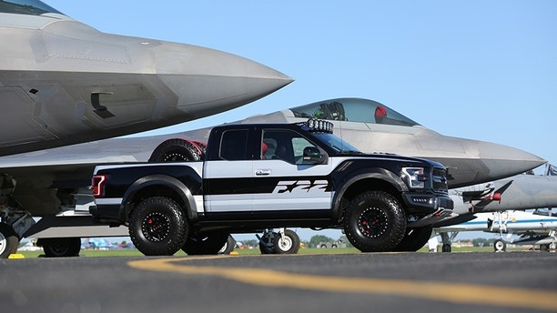 unique ford f 150 39 raptor 39 sells for 300 000 fox news. Black Bedroom Furniture Sets. Home Design Ideas