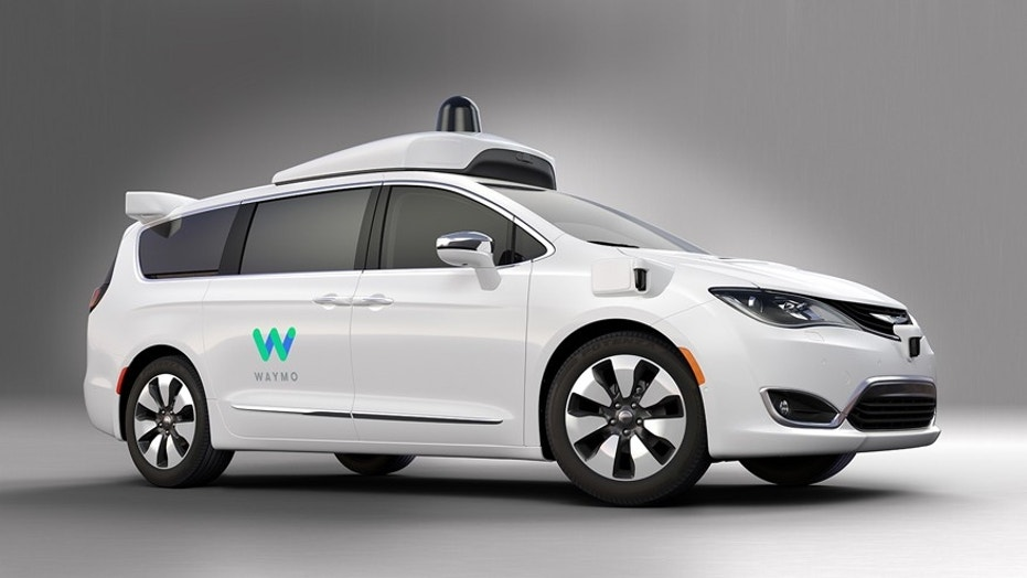A Chrysler Pacifica equipped with Waymo autonomous driving technology