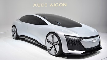 The Audi Aicon is on display during the first media day of the International Frankfurt Motor Show IAA in Frankfurt, Germany, Tuesday, Sept. 12, 2017, which runs through Sept. 24, 2017. (AP Photo/Martin Meissner)