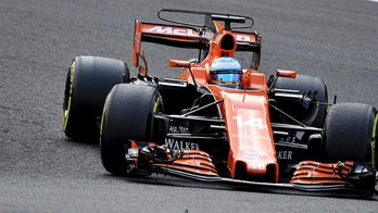 Mclaren driver Fernando Alonso of Spain steers his car during the Belgian Formula One Grand Prix in Spa-Francorchamps, Belgium, Sunday, Aug. 27, 2017. (AP Photo/Geert Vanden Wijngaert)