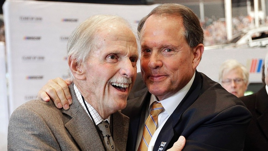 Robert Yates, left, with Winston Kelley, executive director of the NASCAR Hall of Fame