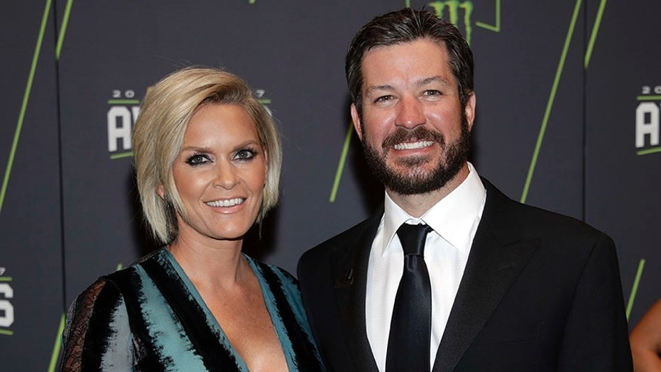 Sherry Pollex and Martin Truex Jr. at the NASCAR awards in Las Vegas.