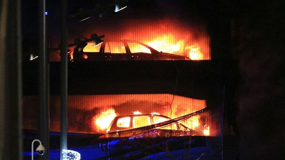 Parking garage fire destroys roughly 1400 of cars in UK