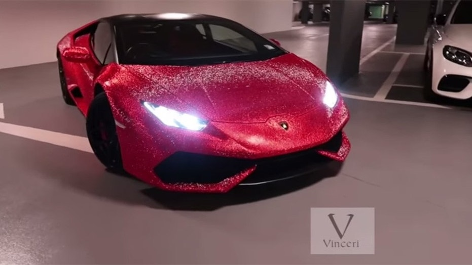 Instagram Model Has Her Lamborghini Covered In 1 3 Million Swarovski Crystals Fox News