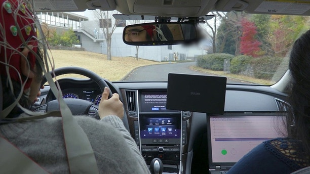 YOKOHAMA Japan – Nissan unveiled research today that will enable vehicles to interpret signals from the driver's brain redefining how people interact with their cars. The company's Brain-to-Vehicle or B2V technology promi