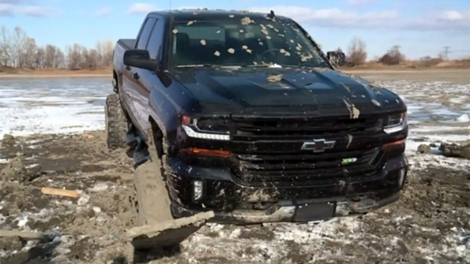 A couple of truck owners in Illinois thought they'd take their new 4x4 out for a ride on a frozen pond. Bad idea.