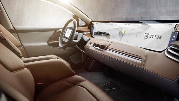 BYTON's Shared Experience Display enables content shown to be shared with other passengers in the car ((PRNewsfoto/BYTON))