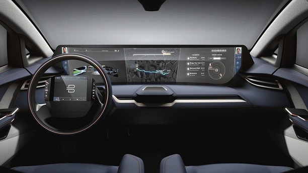 "BYTON Opens North American Headquarters; Byton is positioning its products as the ""next generation smart devices."" A key feature includes a 49 inch by 10 inch large-size screen -- an all new smart human-vehicle interface -- and a touch screen steering wheel with gesture recognition. ((PRNewsfoto/BYTON))"