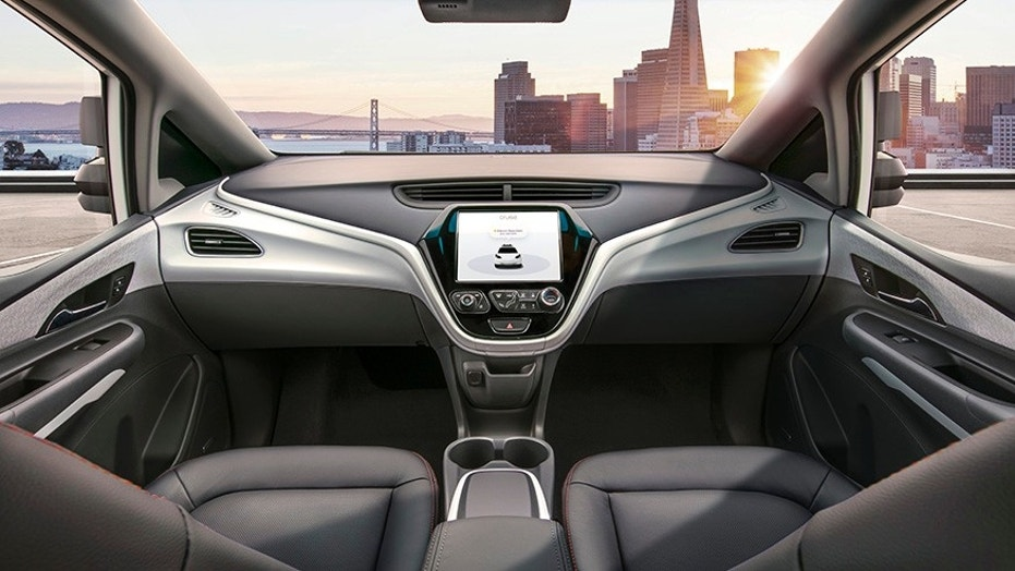 The Chevy Bolt-based Cruise EV has not steering wheel, pedals or gear selector.