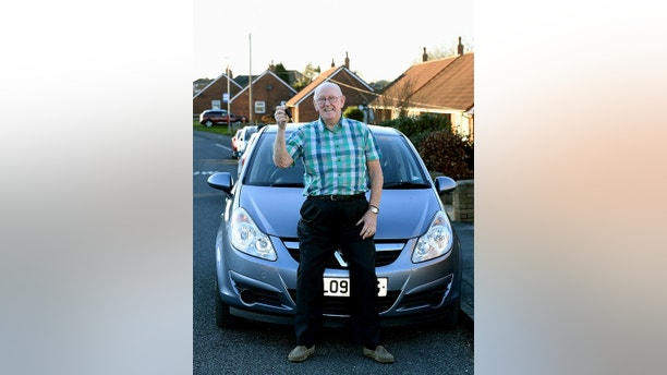 Keith Limbert from Garforth, who has passed his driving test aged 79, after his wife Anne was ill. See Ross Parry story RPYTEST; CANCER survivor Keith Limbert has passed his driving test - at the age of 79.