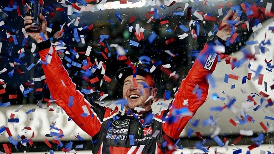 The Daytona 500 will take place Feb. 18, 2018. Pictured is 2017 champion Kurt Busch.