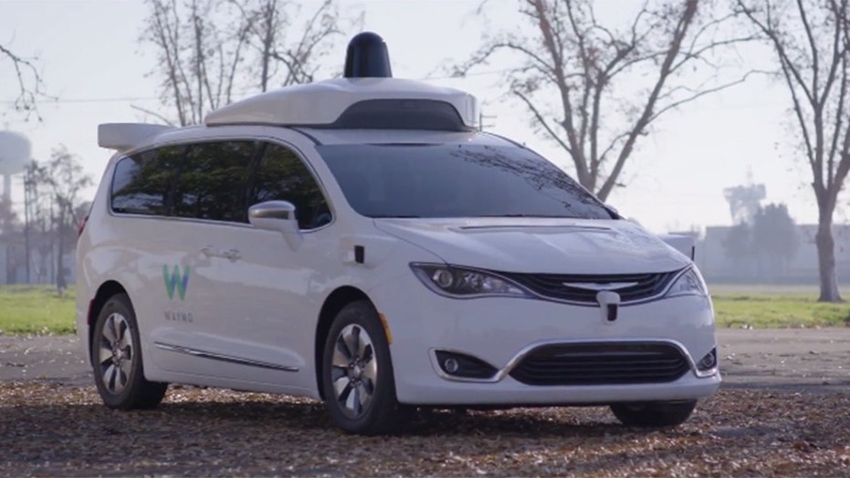 One of Waymo's autonomous Chrysler Pacifica test vehicles.