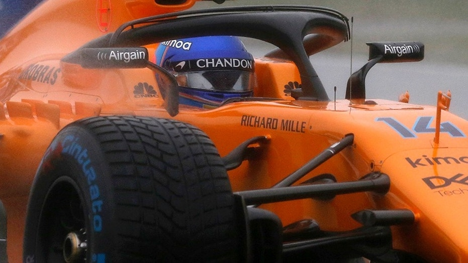 Fernando Alonso behind the wheel of his McLaren.