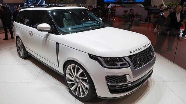 The new Land Rover Range Rover SV Coupe is presented during the press day at the 88th Geneva International Motor Show in Geneva, Switzerland, Tuesday, March 6, 2018. (Cyril Zingaro/Keystone via AP)