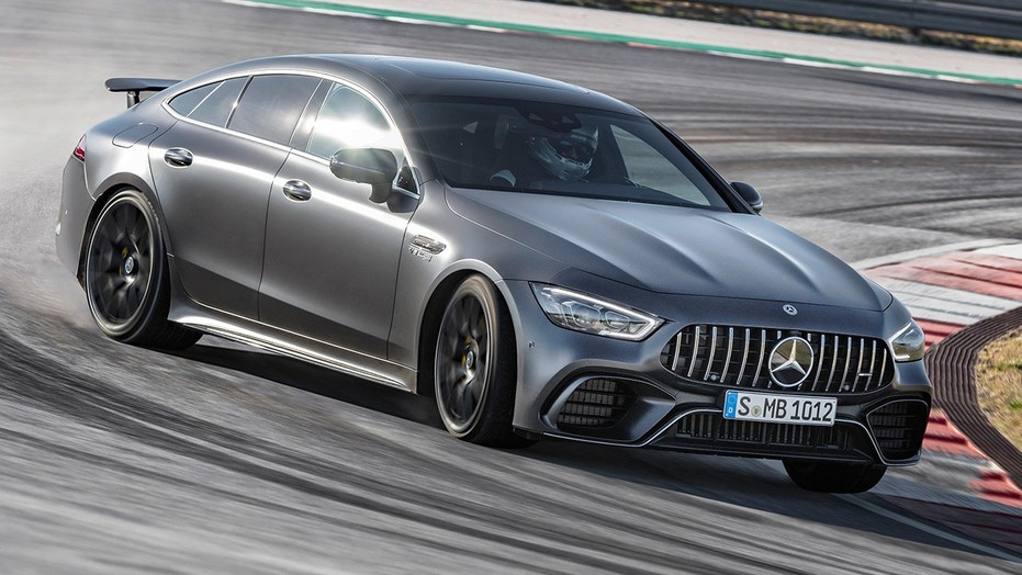 The Mercedes-AMG GT 4-Door Coupe is set to compete with the Porsche Panamera and Audi S7