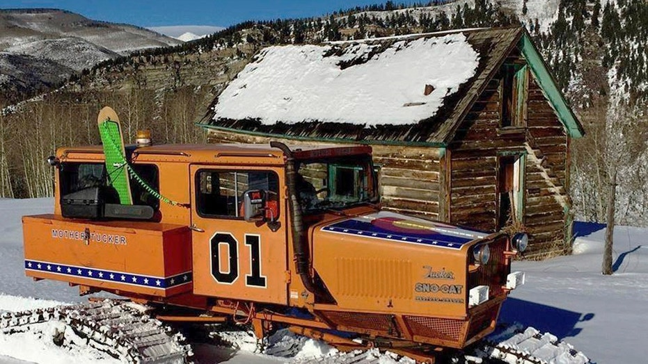 The Sno-Cat is painted to look like the General Lee, but instead of a Confederate Battle Flag, it has the state flag of Colorado on its hood.