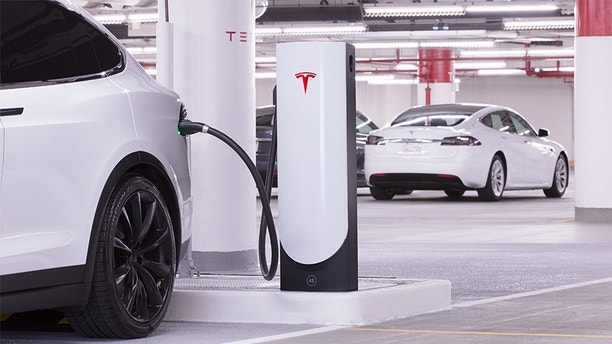 Superchargers are located strategically along highways and in urban areas