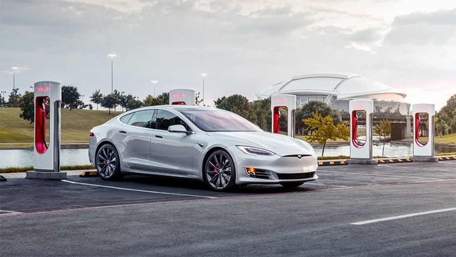 Tesla's Superchargers can recharge one of its car's batteries to 80 percent in as little as 40 minutes.