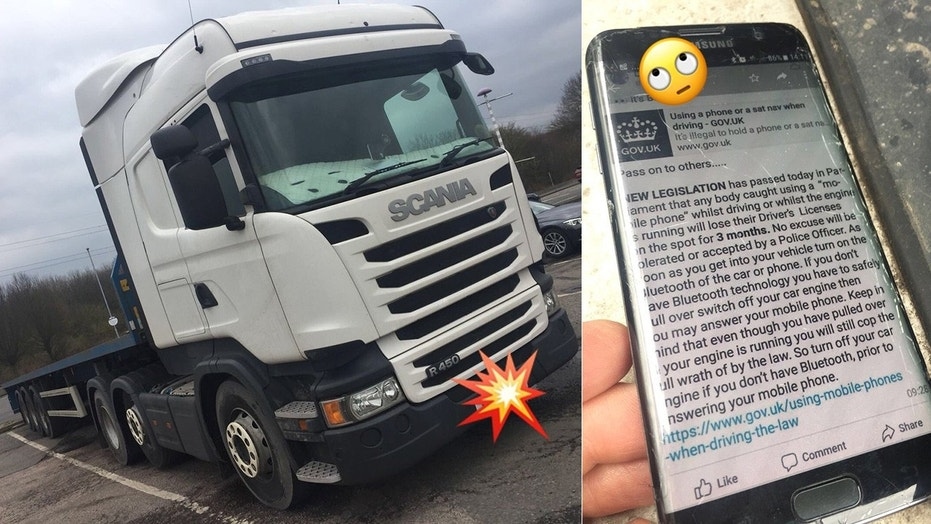 Truck driver caught texting about texting laws