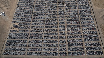 Reacquired Volkswagen and Audi diesel cars sit in a desert graveyard near Victorville, California, U.S. March 28, 2018. Volkswagen AG has paid more than $7.4 billion to buy back about 350,000 vehicles, the automaker said in a recent court filing, and is now storing thousands of vehicles around the United States. Picture taken March 28, 2018.  REUTERS/Lucy Nicholson     TPX IMAGES OF THE DAY - RC12206DFCB0