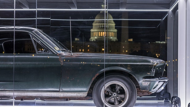"Once considered lost forever, the original 1968 Ford Mustang GT from the Warner Bros. movie ""Bullitt"" is headed for Washington, D.C. The iconic car will be on display at the National Mall in celebration of Mustang's 54th birthday and the 50th anniversary of ""Bullitt."" Photo credit: Historic Vehicle Association"