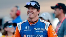 "FILE - In this Saturday, April 7, 2018, file photo, driver Scott Dixon smiles before the IndyCar auto race at Phoenix International Raceway in Avondale, Ariz. Dixon will be the latest IndyCar driver to enter the realm of reality TV when he auditions in Indianapolis next week for ""American Ninja Warrior. (AP Photo/Rick Scuteri, File)"