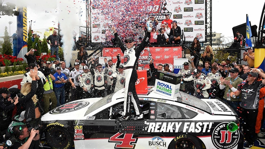 Victory Auto Group >> Kevin Harvick wins Dover NASCAR race for 4th win of the ...