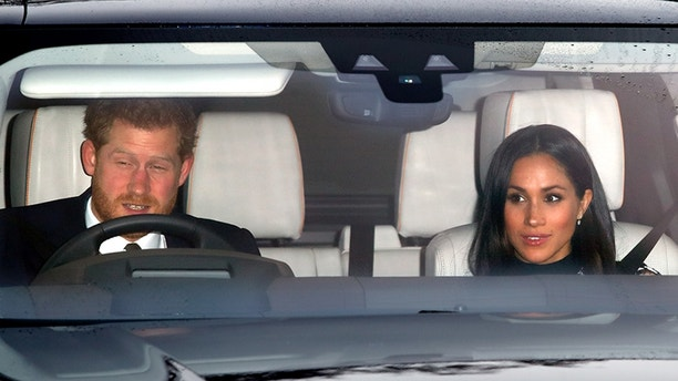 LONDON, UNITED KINGDOM - DECEMBER 20: (EMBARGOED FOR PUBLICATION IN UK NEWSPAPERS UNTIL 24 HOURS AFTER CREATE DATE AND TIME) Prince Harry and Meghan Markle attend a Christmas lunch for members of the Royal Family hosted by Queen Elizabeth II at Buckingham Palace on December 20, 2017 in London, England. (Photo by Max Mumby/Indigo/Getty Images)