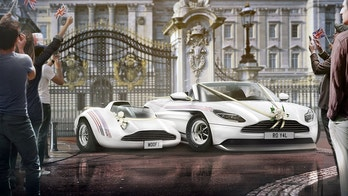 Royal wheels infographic…..Brits believe this is going to be the vehicle newlyweds Prince Harry and Meghan Markle will drive off into the sunset in following their wedding. See story SWCAR. The cool white sports car merges the best of British and American motoring – an Aston Martin DB11 and the iconic Ford Mustang - which topped a survey of more than 2,000 adults to uncover the top choices for the wedding vehicle. It is also thought the vehicle will feature neutral ribbons and elegant white flowers for a simple and classy look. The research, commissioned by webuyanycar.com, revealed 86 per cent of Brits believe Harry and Meghan will hop into a British car on their big day, while one in 10 imagine the motor could be a half and half American-British hybrid. The DB11 shape forms the base of webuyanycar's imaginary Windsor wedding car, adapted with the wheels and arches of the iconic Mustang.
