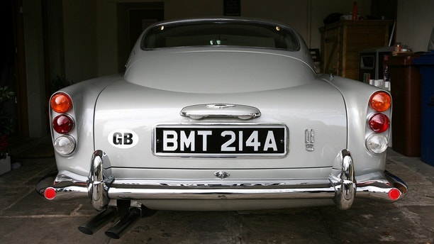 Rear of James Bond Aston Martin DB5