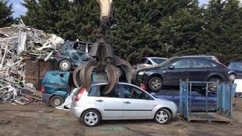 The picture of the car being scrapped taken by the alleged car 'thief'. A young man is fuming after a potential buyer 'stole' his car - and sent him a picture of it being scrapped. See National News story NNSCRAP; George Wood was stiffed out of £160 by the person who drove off with his car. The 21-year-old, from Ashford, Kent, had listed his 15-year-old Ford Fiesta on Facebook Marketplace for £350 two weeks ago. But after being messaged by a man named Liam, who offered £280, George agreed. The pair met but Liam said he only had £120 cash on him - and vowed to transfer the rest over.