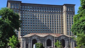 FILE - This May 25, 2018, file photo shows the old Michigan Central Station in Detroit. Owners of the vacant, hulking 105-year-old building are planning to make an announcement about its future Monday morning, June 11, 2018. (AP Photo/Corey Williams, File)