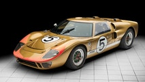 A historically-important racing car which finished third at Le Mans is set to become the world's most expensive Ford by selling for a whopping £9 MILLION. See story SWFORD. The gold Ford GT40, chassis number P/1016, was part of a legendary 1-2-3 which famously embarrassed Enzo Ferrari at the 1966 race. It was developed following a bitter dispute between Henry Ford II and the owner of the Italian sports car firm. Ford wanted to buy Ferrari, but no deal was done and the American firm - famous for making good value family cars - decided to enter racing and beat the Italians at their own game. The GT40s - which were just 40-inches high - were designed, engineered and developed under Brit Roy Lunn's direction. And following a number of setbacks, the GT40 won Le Mans in 1966 as Ford took all three spaces on the podium. P/1016, driven by Ronnie Bucknum and Dick Hutcherson, completed 348 laps and finished third overall for the Holman & Moody racing team. The legendary 1960s racing car, which has a 7-litre V8 engine and is capable of more than 200mph, will be sold by RM Sotheby's in Monterey, California, in August.RM Sotheby's has given it a guide price of around $12 million (£9m) which will potentially make it the most expensive Ford ever sold publicly.