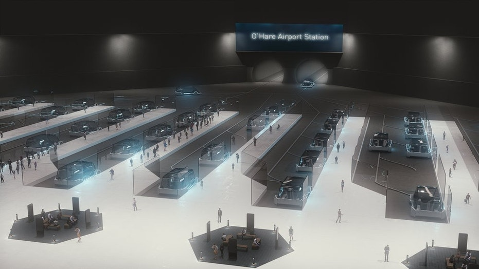 The Boring Company plans to build terminals for its Chicago Express Loop connecting O'Hare airport and downtown Chicago.