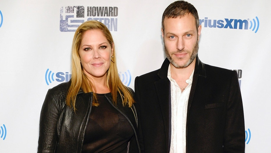 Mary McCormack and husband Michael Morris attend an event at the Hammerstein Ballroom in New York City, Jan. 31, 2014.