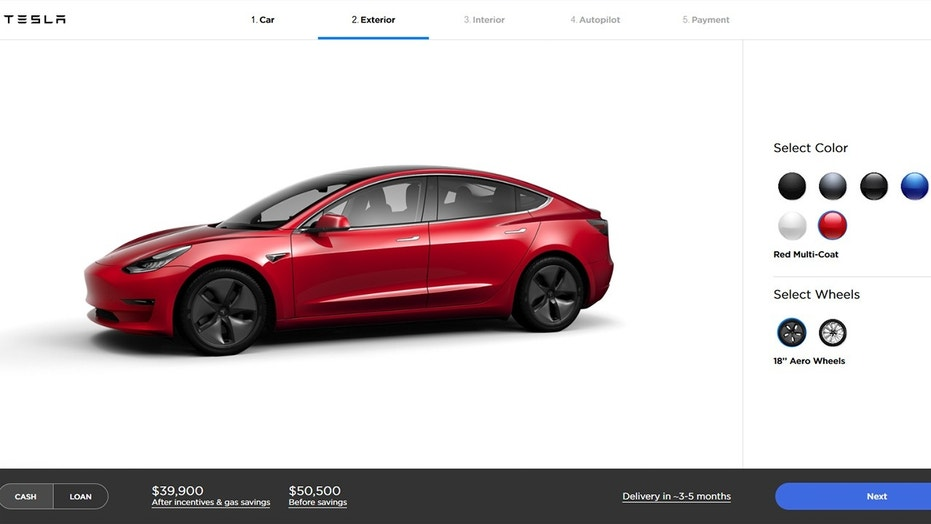 tesla opens model 3 order book to all as tax credits begin to wind down fox news. Black Bedroom Furniture Sets. Home Design Ideas