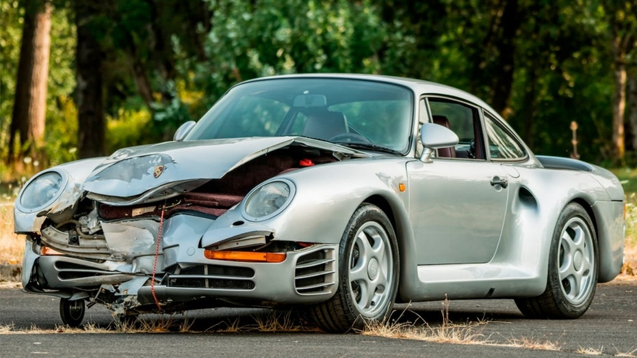 Crashed 1987 Porsche 959 heading to auction, could be worth $500,000 ...