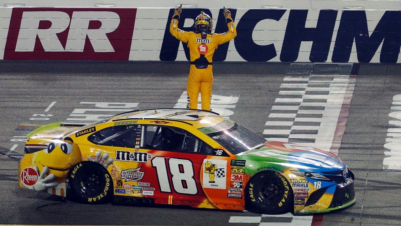 Kyle busch winds nascar richmond race from the back of the pack sports news bay - Pictures of kyle busch s car ...