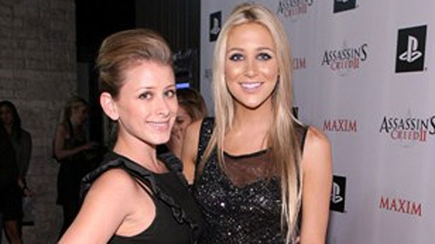 Lauren Bosworth and Stephanie Pratt artying up a storm at Maxim & Ubisoft Assassin's Creed 2 Launch at Voyeur in West Hollywood last Wednesday