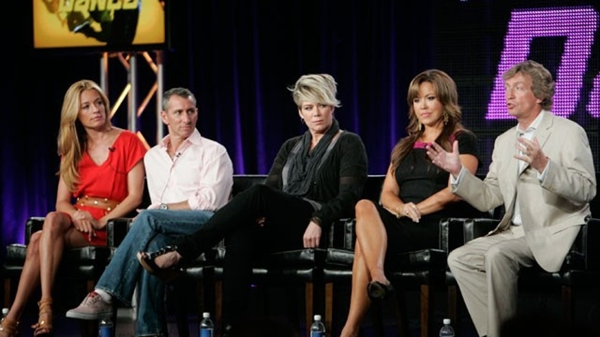 "Aug. 6: The host, judges and executiver producer of ""So You Think You Can Dance"" (L-R) host Cat Deeley, guest judges Adam Shankman, Mia Michaels, judge Mary Murphy and executive producer and judge Nigel Lythgoe."