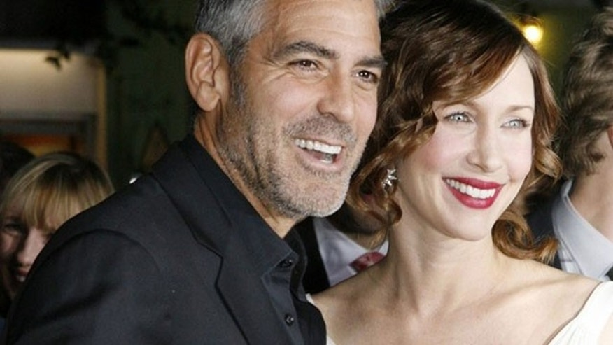 George Clooney and 'Up in the Air' co-star Vera Farmiga at the premiere of the film in Los Angeles.