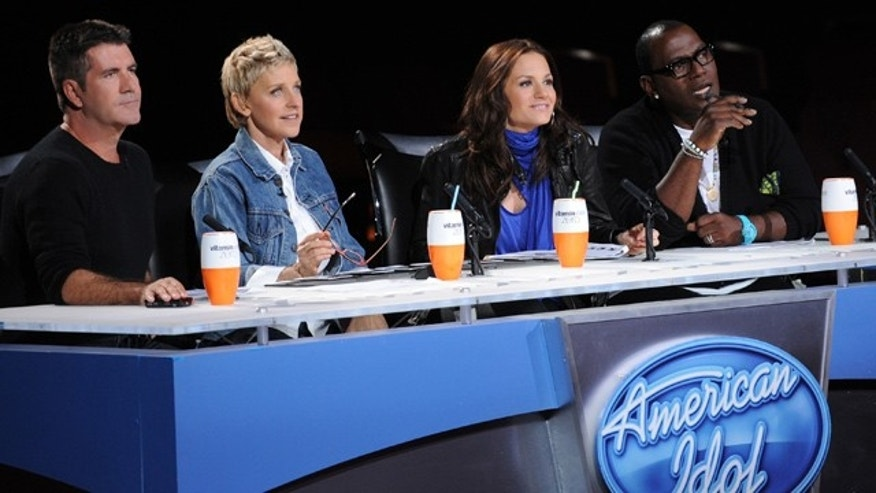 'American Idol' judges Simon Cowell, Ellen DeGeneres, Kara DioGuardi and Randy Jackson (Fox)